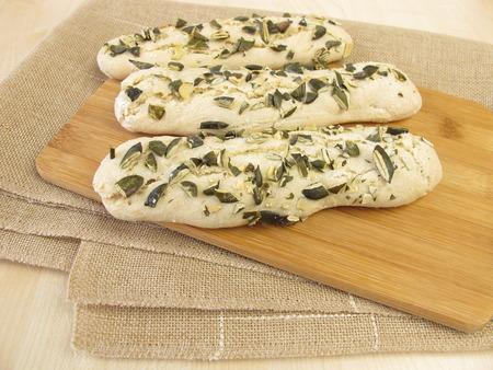 breadsticks: Palitos de pan de semillas de calabaza