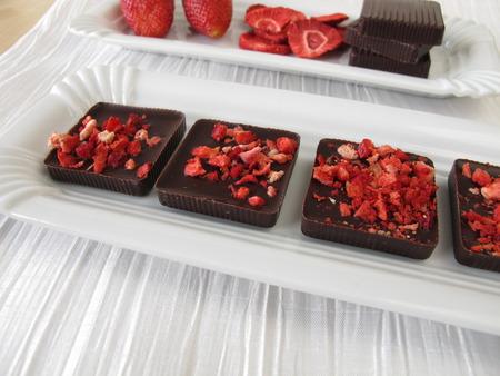 freeze dried: Homemade strawberry chocolate