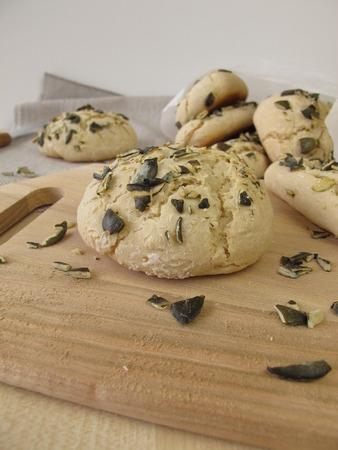 pumpkin seed: Rolls and breadsticks with pumpkin seed