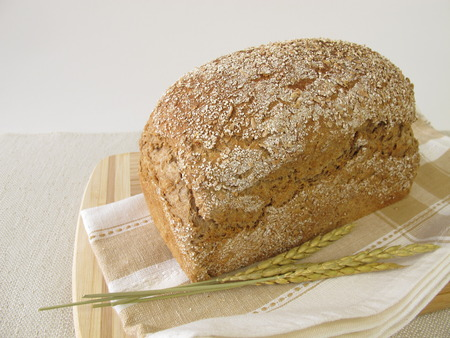 bread mold: Homemade spelt bread Stock Photo
