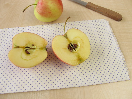enzymes: Apple halves have become brown