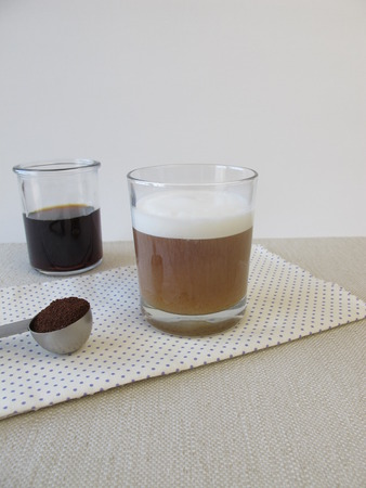 Coldbrewed coffee with milk foam