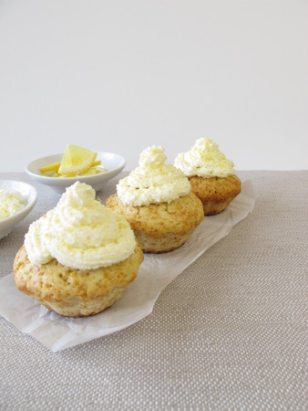 frosted: Frosted lemon cupcake