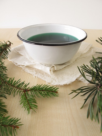 naturopathy: Bath essence with spruce and pine needles