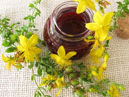 St. Johns wort oil in bottle