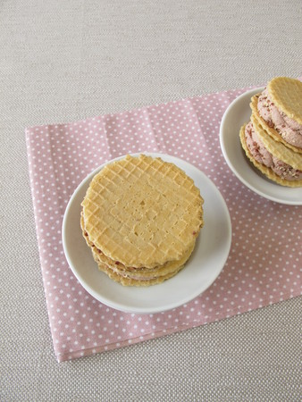 wafers: Chocolate ice cream in wafers