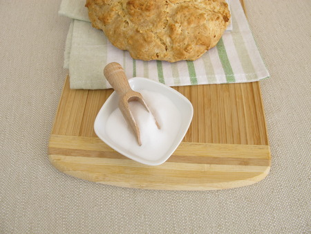 sodium hydrogen carbonate: Homemade soda bread and baking soda