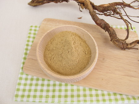 dry powder: Medicinal clay dry powder Stock Photo