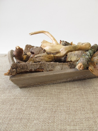barque: Craft material with tree roots, bark and twigs
