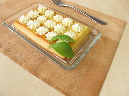 belgian: Belgian waffles with whipped cream Stock Photo