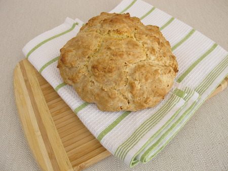 sodium hydrogen carbonate: Homemade soda bread