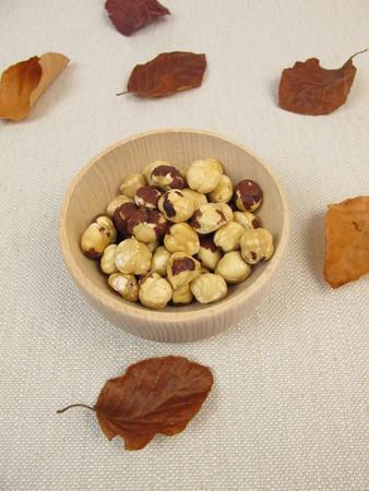 hazelnuts: avellanas tostadas Foto de archivo