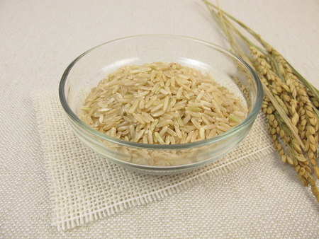 uncooked: Uncooked brown rice