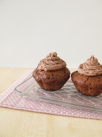 magdalenas: Muffins de chocolate