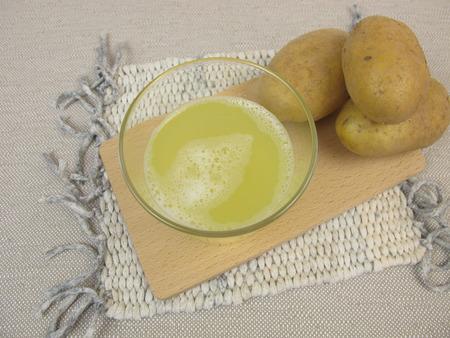 raw potato: Raw potato juice