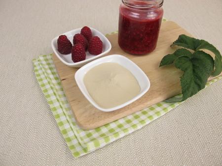 agar: Raspberry jam with agar agar