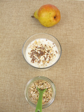 flax seeds: Muesli drink with flax seeds