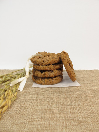 kringle: Oat chocolate cookie kringle Stock Photo