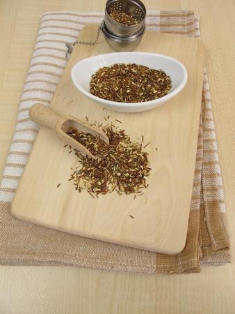 loose leaf: Green rooibos tea