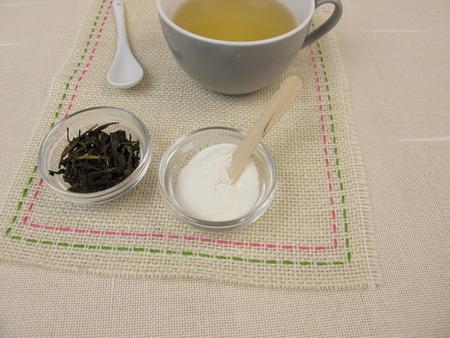 gelatina: El t� verde con az�car gelatina y fruta