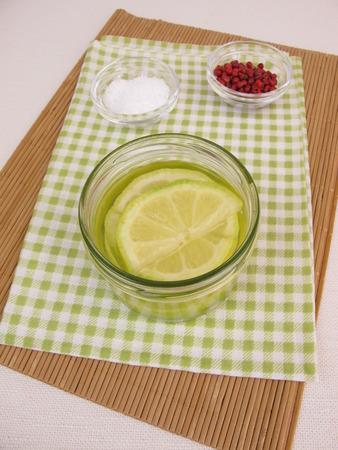 brine: Pickled lemons in brine