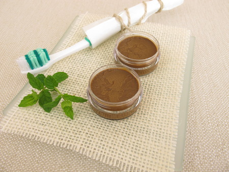 crucible: Homemade toothpaste from coconut oil, healing clay powder and peppermint oil