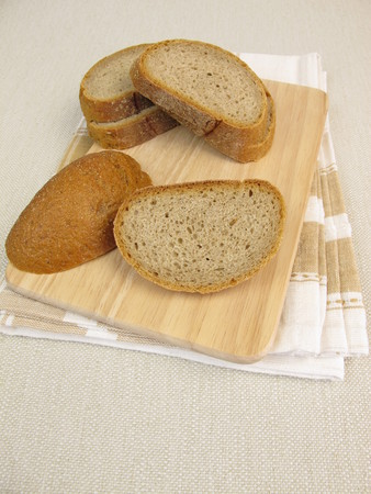 crust: Crust of bread or bread edges from rye brad Stock Photo