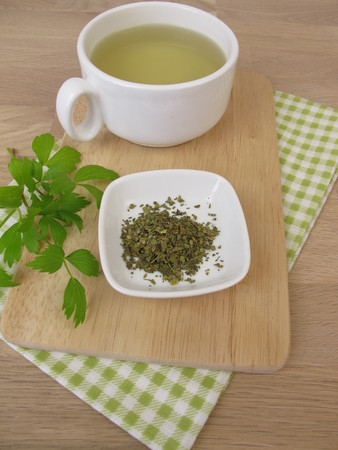 Tea with lovage