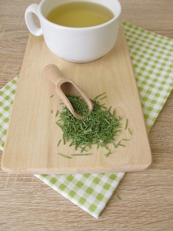 Tea with dried common horsetail
