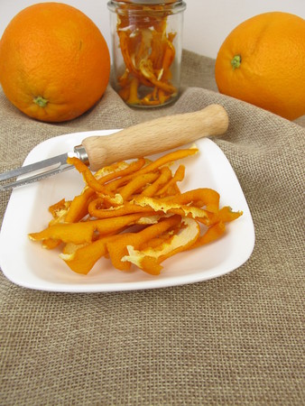 Dried orange peel from organic oranges