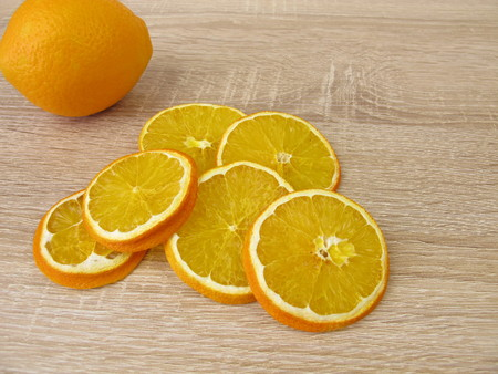 Dried sweet orange slices