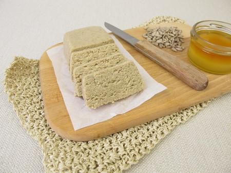 Halva made from sunflower seeds and honey Stock Photo