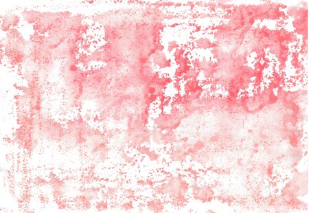 With water soluble wax chalk crayons hand paintet watercolor wash background in red