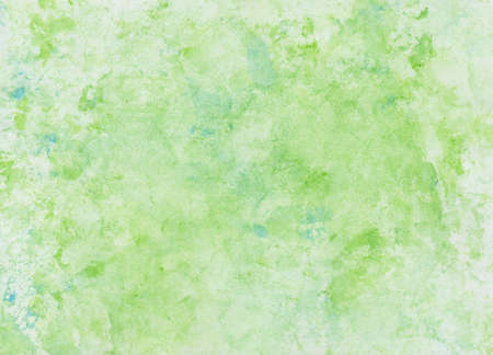 Watercolor wash with foil print, background in green and blue Archivio Fotografico