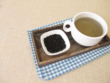 A cup of black cumin tea