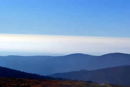 view from the Brocken Hill Standard-Bild