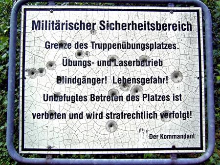 militarily: warning