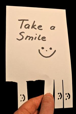 amabilidad: tener una sonrisa Foto de archivo