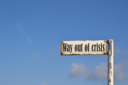 Weg aus der Krise Lizenzfreie Bilder
