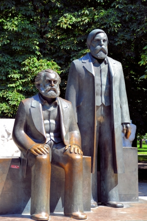 larger than life: Marx-Engels-Forum