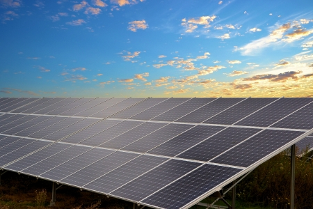 energy field: solar energy Stock Photo