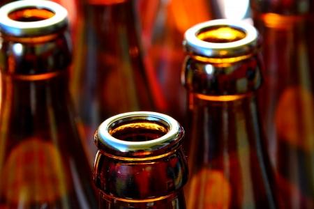 alcohol series:  beer bottles