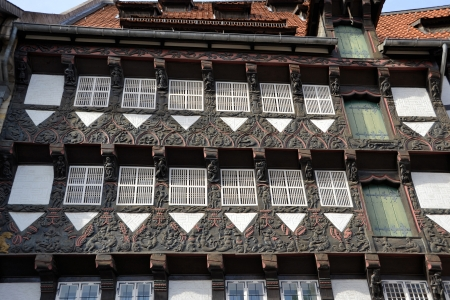 a historic half-timbered house in Brunswick Stock Photo - 17860437