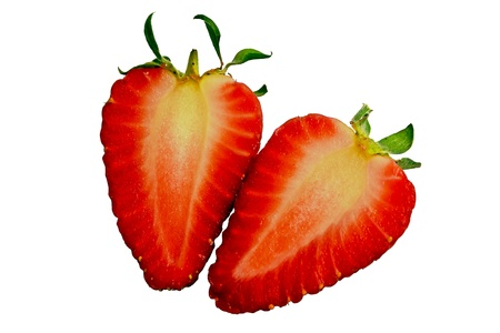 Strawberries with a white background photo