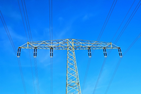 electricity tariff: a power pole and blue sky