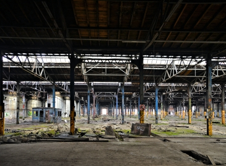 abandoned and dilapidated factory building