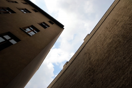 empty abandoned houses on a backyard in Magdeburg Stock Photo - 19143120