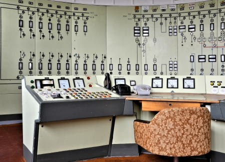 Control center in a disused opencast mining Stock Photo - 19298204