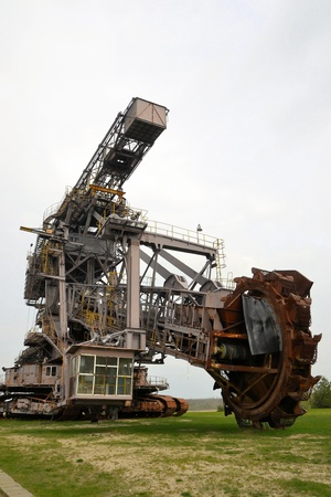 conveyor rail: Coal excavator in an open pit mining