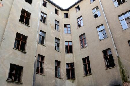 abandoned empty house